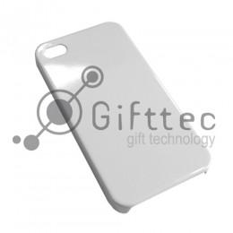IPhone 4/4S - Белый чехол глянцевый пластик (для 3D - сублимации)
