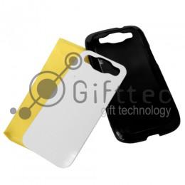 Samsung Galaxy S3 i9300 - Черный чехол пластиковый (вставка под сублимацию)