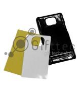Samsung Galaxy S2 i9100 - Черный чехол пластиковый (вставка под сублимацию)