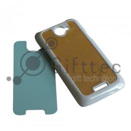 HTC One X/One Х+ - Белый чехол пластиковый (вставка под сублимацию)