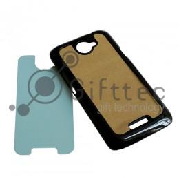 HTC One X/One Х+ - Черный чехол пластиковый (вставка под сублимацию)