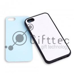 IPhone 5/5S - Черный силиконовый чехол (вставка под сублимацию)