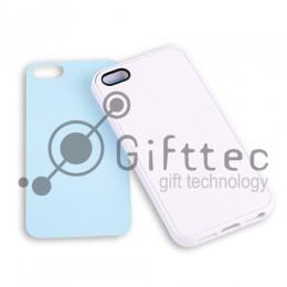 IPhone 5/5S - Белый силиконовый чехол (вставка под сублимацию)