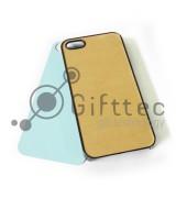 IPhone 5/5S - Черный чехол пластиковый (вставка под сублимацию)