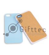 IPhone 5/5S - Белый чехол пластиковый (вставка под сублимацию)