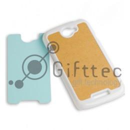 HTC One S - Белый чехол пластиковый (вставка под сублимацию)