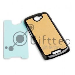 HTC One S - Чёрный чехол пластиковый (вставка под сублимацию)