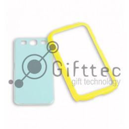 Samsung Galaxy S3 i9300 - Жёлтый чехол-бампер пластиковый (вставка под сублимацию)