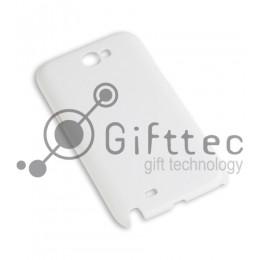 Samsung Note 2 n7100 - Белый чехол глянцевый пластик (для 3D - сублимации)