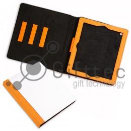 IPad 2/3/4  - Оранжевый чехол из искусственной кожи (зона под нанесение)