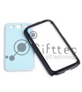 Samsung Galaxy S3 i9300 - Чёрный чехол-бампер пластиковый (вставка под сублимацию)