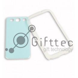 Samsung Galaxy S3 i9300 - Прозрачный чехол-бампер пластиковый (вставка под сублимацию)