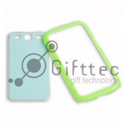 Samsung Galaxy S3 i9300 - Зелёный чехол-бампер пластиковый (вставка под сублимацию)