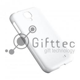 Samsung Galaxy S4 mini - Белый чехол глянцевый пластик (для 3D - сублимации)