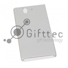 Sony Xperia Z L36H - Белый чехол глянцевый пластик (для 3D - сублимации)