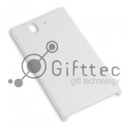 Sony Xperia Z L36H - Белый чехол матовый пластик (для 3D - сублимации)