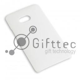 HTC One - Белый чехол глянцевый пластик (для 3D - сублимации)