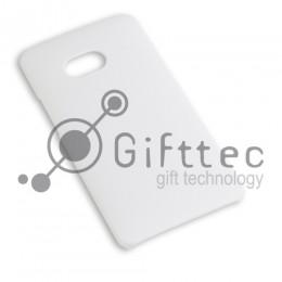 HTC One - Белый чехол матовый пластик (для 3D - сублимации)