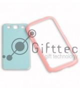 Samsung Galaxy S3 i9300 - Розовый чехол-бампер пластиковый (вставка под сублимацию)