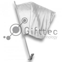 Флаг на машину белый 35x25см для сублимации
