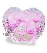 Фотокристалл УФ YKL20 - Камень в форме сердца 75х90х25мм