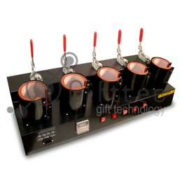 Термопресс Gifttec MASTER на 5 кружек, вертикальный, механическое управление JSS20/XMTG3000