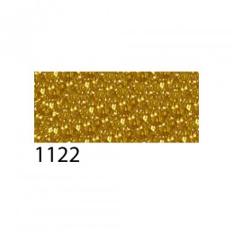 Термоплёнка Chemica bling-bling star для изделий из хлопка, п/э, акрила, с эффектом фактурных зеркальных блёсток, жёлто-золотая, 50х100см