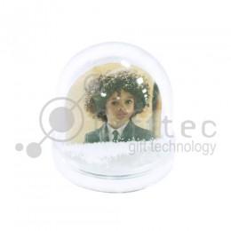Шар водяной сфера, под полиграфическую вставкку с хлопьями в виде снежинок