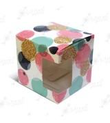"""Коробка подарочная для кружки с окном """"Розовые шары"""""""