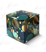 """Коробка подарочная для кружки без окна """"Синие шары"""""""