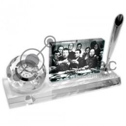Фотокристалл под сублимацию BXP06 - Часы с подставкой (настольный набор)  280х100х75мм