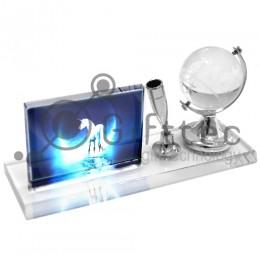 Фотокристалл под сублимацию BSJ23 - Глобус большой (настольный набор) 180х95х50мм