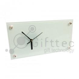 Часы стеклянные прямоугольные 30х16см BL28 для сублимации