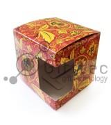 """Коробка подарочная для кружки с окном """"Хохлома"""""""