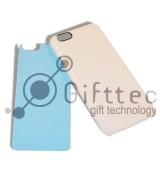 IPhone 6/6S - Белый чехол пластиковый (вставка под сублимацию)