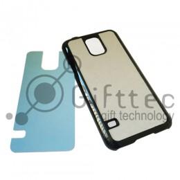 Samsung Galaxy S5 - Черный чехол пластиковый (вставка под сублимацию)
