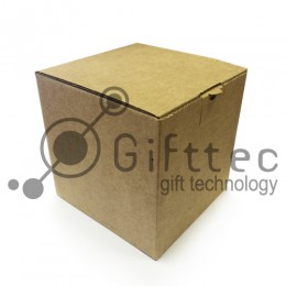 Коробка для кружки БУРАЯ 10х10х10см