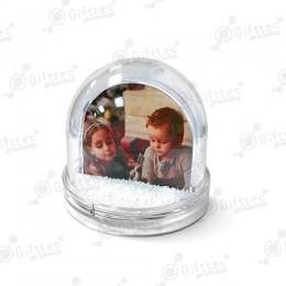 Шар водяной сфера, под полиграфическую вставку с хлопьями в виде снежинок