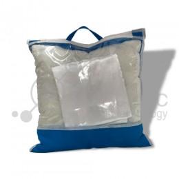 Подушка с наволочкой 33x33см БЕЛАЯ в индивидуальной упаковке для сублимации