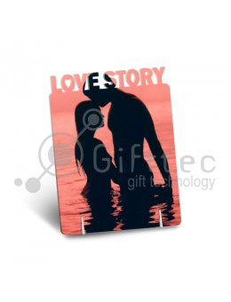 "Фоторамка металлическая ""Love Story"" 168х122х1,2мм под сублимацию"