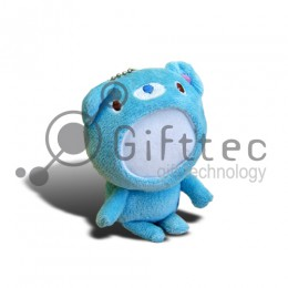 3D Игрушка Медвежонок СИНИЙ (размер 12 см) запечатка 5х5см / 2-PD33