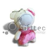 3D Игрушка Влюбленный Медвежонок БЕЛЫЙ (размер 12 см) запечатка 5х5см / 2-PD56