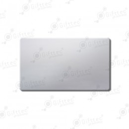 Бейдж 70х40мм без окна (серебро глянец SU23), под сублимацию, упаковка 10шт