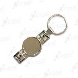 Брелок для ключей ПОРШЕНЬ PREMIUM СЕРЕБРО (комплект для изготовления брелока) упаковка 10шт