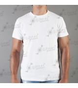 Футболка мужская белая Comfort (FutbiTex), синтетика/хлопок (имитация хлопка) р.40 (3XS) для сублимации