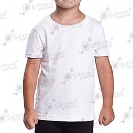 Футболка детская белая Comfort (FutbiTex), синтетика/хлопок (имитация хлопка) р.26 для сублимации
