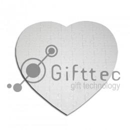 Пазл для сублимации в форме сердца 19х19,3см (76 элементов)
