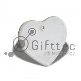 Плитка керамическая в виде сердца 9.5х10см для сублимации