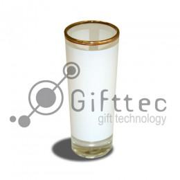 Рюмка стеклянная (золотая каёмка) высокая h=10.2см, 120мл для сублимации