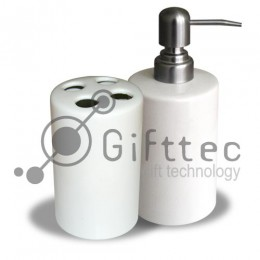 Набор для ванной керамический (подставка для щеток, дозатор для мыла) для сублимации